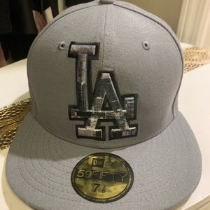 Grey LA Dodgers Graphics NewEra hat 7 3/8